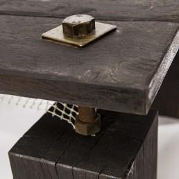 Afgemeerd salontafel detail