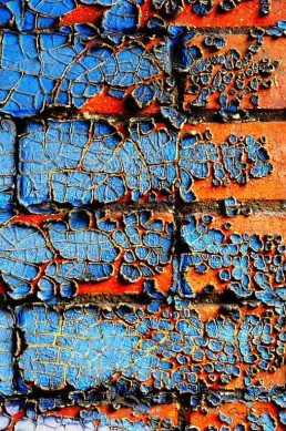 oranjeblauw verfeffect