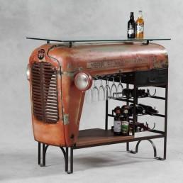Tractor tafel wijnrek
