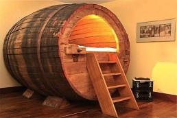 Whisky wijn vat bed